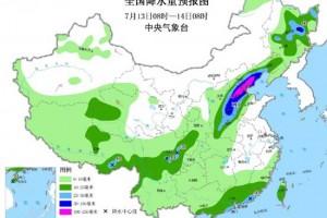 各主产区未来三天降雨概况 ()