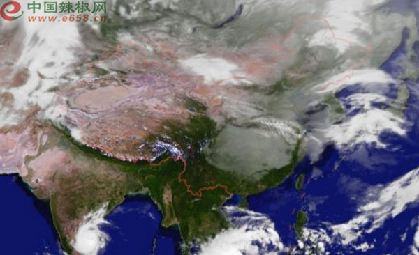 图为 全国天气实时气象云图-未来一周天气晴朗为主 冷空气 雾霾强势来图片